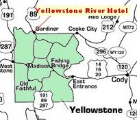 Map of Yellowstone Park Area
